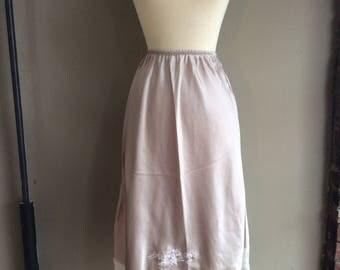 1970s Christian Dior Slip / 70s Bridal Embroidered Lingerie / 1970's Designer Pajamas / 70's Pyjamas / Unique Gift Ideas for Her Bridal NOS