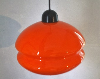 Suspension in opaline orange of the years 60/70