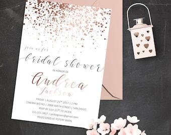 Glitter invitation Etsy