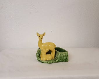 Vintage Shawnee Deer and Fawn pottery planter, collectible Shawnee, Vintage pottery, antique pottery, Shawnee pottery, Retro shawnee