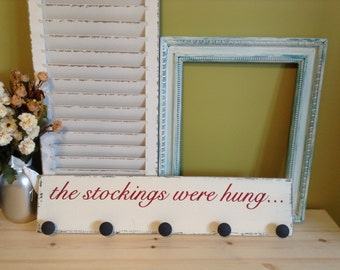 Stocking Hanger, Wood Stocking Hanger, Stocking Hanger Wood, Stockings Were Hung