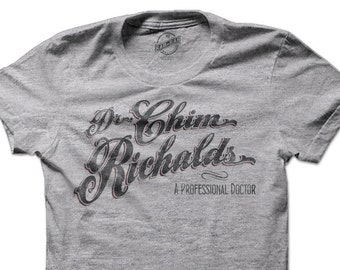 Dr. Chim Richalds-A Professional Doctor Short Sleeve Tee-Heather Grey