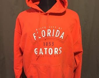 Vintage University of Florida Hooded Sweatshirt, Size: Large