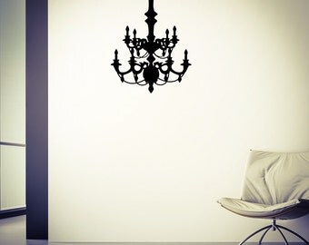 Chandelier Decal - Wall Decal, Chandelier Wall Art, Vinyl Decal, Decal