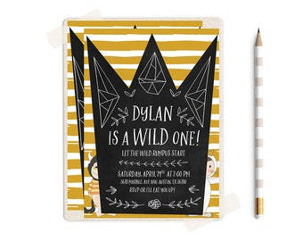 Wild One Birthday Invitation, Wild One Birthday, Wild One Birthday Boy, Where the Wild things are Invitations,  wild things birthday,  party