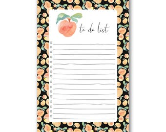 Peaches - To Do List - Magnetic Notepad