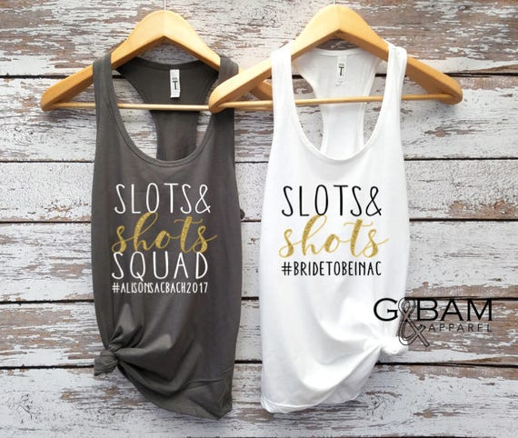 Slot Squad tanks / Drink Dance Gamble Repeat Tank / We Said Vegas / Slots & Shots  / Vegas shirt