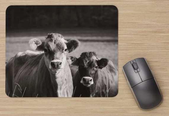 Jersey Cow Mouse Pad - Farm Mousepads - Cows Computer Mat - Office Accessories - Office Decor - Desk Accessories - Office Gifts