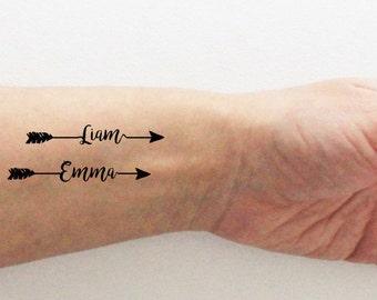 Custom Temporary Tattoos / Firstname Tattoo / Personalized Firstname Tattoo  / Motheru0027s Day Tattoo / Valentineu0027s