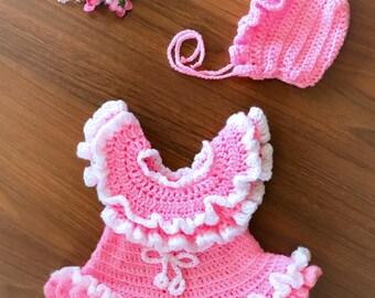 Crochet baby dress, crochet baby set, crochet baby hat, newborn crochet outfit, newborn dress set, crochet baby outfit, newborn dress set