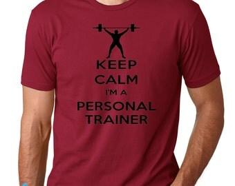 KEEP CALM I'm a Personal Trainer Shirt. Keep Calm Shirts.