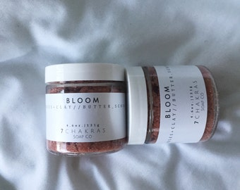 Rose Clay Sugar Scrub, Rose Petals, Vegan, All Natural