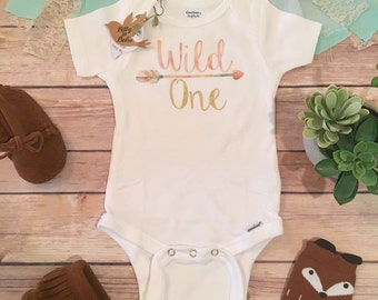 Wild One Onesie®, Baby Girl Clothes, Baby Shower Gift, Boho Baby Clothes, Cute Baby Clothes, Cute Baby Onesies, First Birthday Girl Outfit