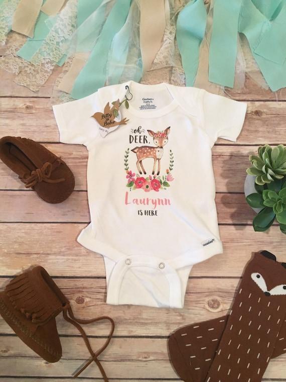 Baby Name esie Boho Baby Clothes Custom esie Baby Girl