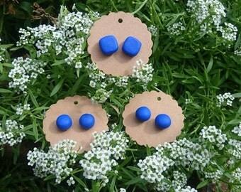 Blue Clay Earrings