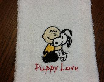 Puppy Love Hand Towel