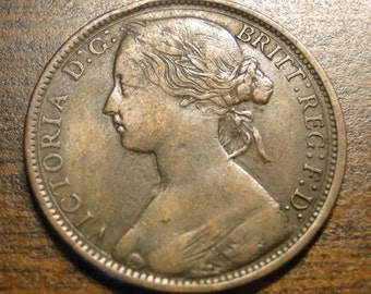 1866 Great Britain Penny - 1866 Victoria Large Penny