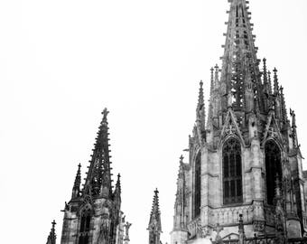 Barcelona Cathedral - Barcelona Photography - Wall Art - Fine Art Photography - Minimalist -Barcelona  Photography - Saint Eulalia BW - 0068