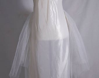 1980's slip with tulle skirt
