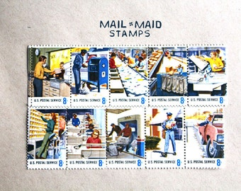 Postal people postage stamps (Set of 10 stamps)