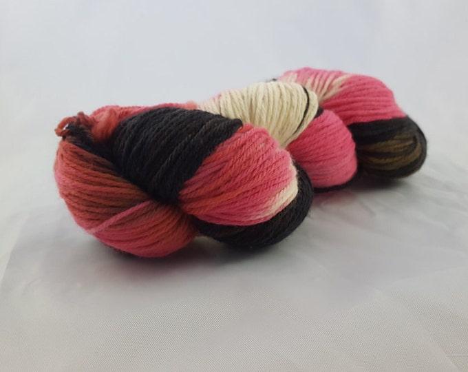 OOAK - Evil Flamingo - Sport Weight - Sock Yarn - Arlene Base - 75/25 Merino Nylon - 274 Yards/100 Grams