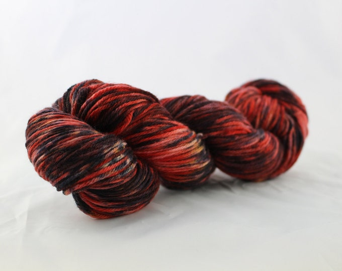 OOAK - Black Widow - Sport Weight - Sock Yarn - Arlene Base - 75/25 Merino Nylon - 274 Yards/100 Grams