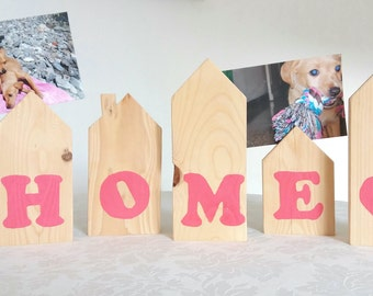 Wooden photo frame skyline