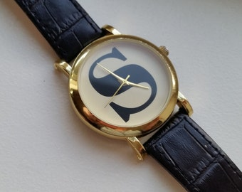 S Watch with Leather Band