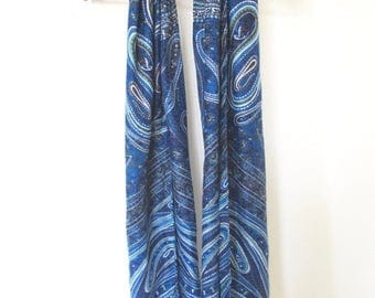 Tribal patterned blue based scarf