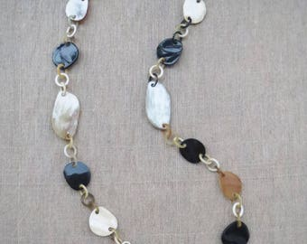 """Long chain necklace, long necklace, handmade necklace, Christmas gift, 37.7"""" length"""