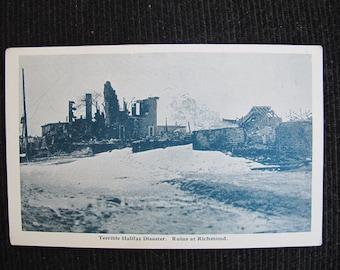 Terrible Halifax Disaster Ruins at Richmond / Halifax disaster postcard / 1917 maritime explosion / Underwood & Underwood