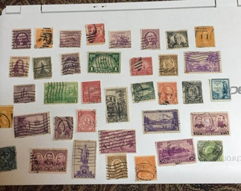 37 Old U.S. Postage Stamps