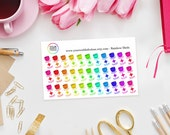 Rainbow Pill Bottle Planner Stickers - perfect for Erin Condren, Kikki K, Happy Planner, Journal or Filofax Planner - Meds - tablets