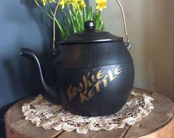 Vintage McCoy ceramic Kettle cookie jar kitchen storage display decor