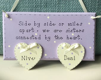 Personalised Sister's Plaque - Sister Plaques, Personalised Plaques, Sister Gift, Sisters Birthday Gift.