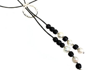 Necklace 1001 nights-Sterling Silver and Pearls 423