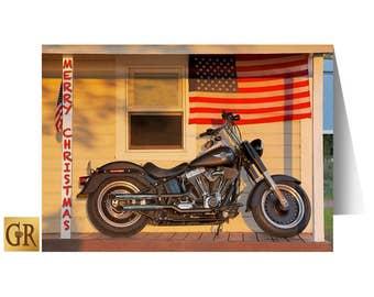 Harley Davidson Christmas Card