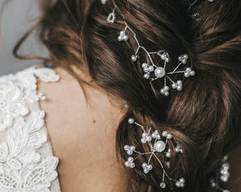 Extra long wedding hair vine 0.45-1.50 meters Wedding pearl hair vine  Pearl hair accessories  Bridal Hair piece