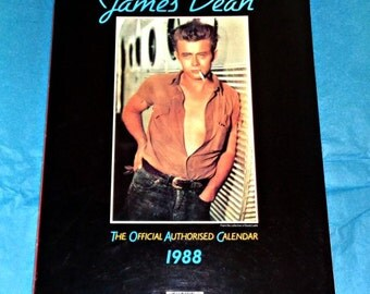James Dean 1988 Official Authorised Calendar Film Memorabilia Collectable Vintage American Actor From The Collection Of David Loehr Danilo