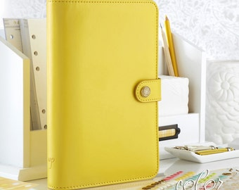 Yellow Notebook Binder, Personal Size Notebook Planner, Webster's Pages Binder, Color Crush Personal Size Planner,