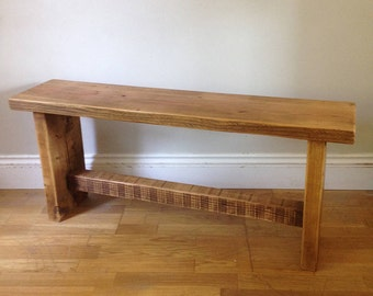 Rustic wooden bench - handmade from reclaimed timber