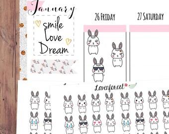 Bonnie emoji stickers|  emotion stickers| emoji planner sticker | BO001