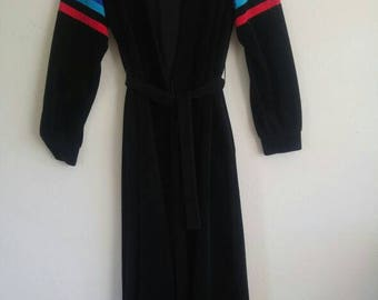 Retro Striped Black Robe