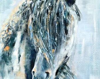 Wild One: Fine art horse giclee print from original acrylic horse painting