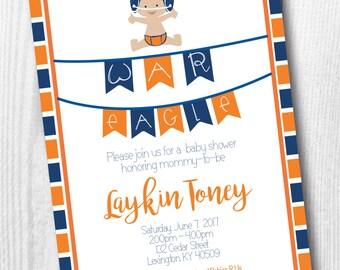 Auburn Baby Shower Invitation - War Eagle