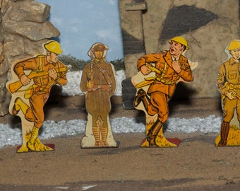 Vintage Toy Soldiers, Marx Tin Shooting Gallery Soldiers