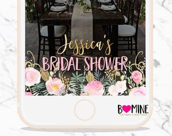 Bridal Shower Snapchat, Floral Snapchat Filter, Custom Snapchat, Personalized Snapchat Filter, Bridal Shower, Shower Snapchat, Baby Shower