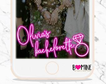 BACHELORETTE SNAPCHAT GEOFILTER, Neon, Neon Bachelorette Snapchat Geofilter, Ring Snapchat filter, Neon Filter, Birthday Snapchat Geofilter