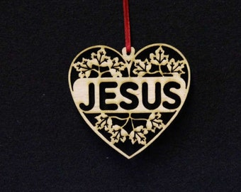 jesus heart ornament