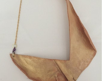 Organic Two Way Leather Necklace